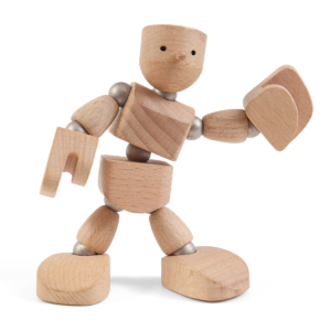 Wodibow Woonki bewegliche Holzpuppe